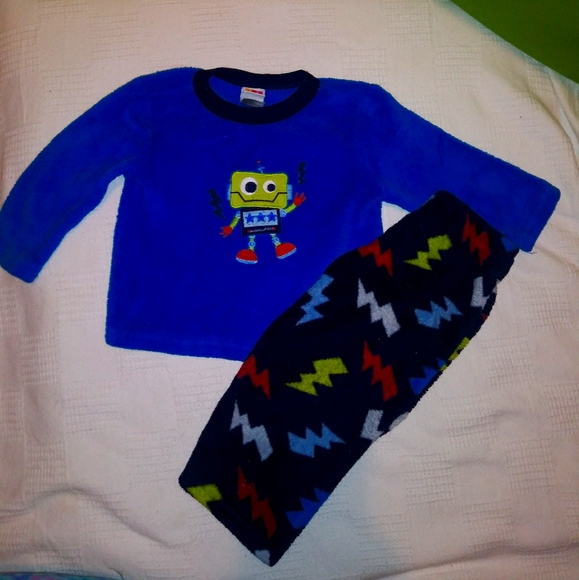 ❤Fleece robot sweater and pants outfit